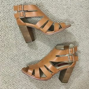 ASOS London Rebel Cut Out Strappy Block Sandals